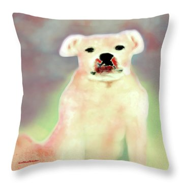 Bulldog Rana Art 43 Throw Pillow
