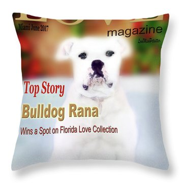 Bulldog Rana Poster 8 Throw Pillow