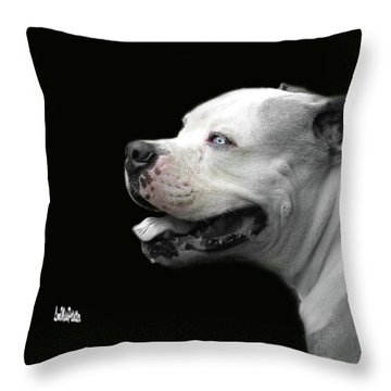 Bulldog Sando  Portrait  Throw Pillow