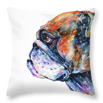 Bulldog Throw Pillow by Zaira Dzhaubaeva