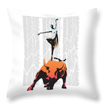 Bullerina Throw Pillow