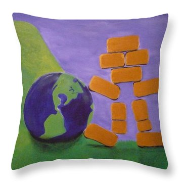 Bullion Supports The World Throw Pillow