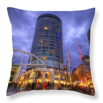 Bullring Centre Throw Pillow