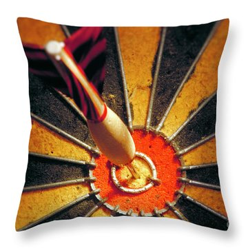 Bulls Eye Throw Pillow by John Greim