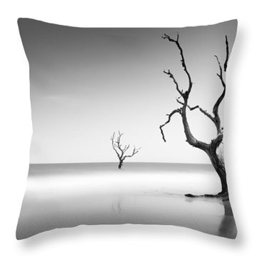 Boneyard Beach Iv Throw Pillow