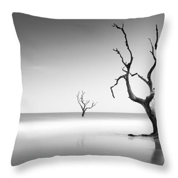 Boneyard Beach Iv Throw Pillow