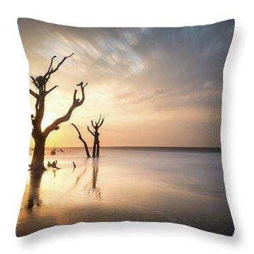Bulls Island Sunrise Throw Pillow