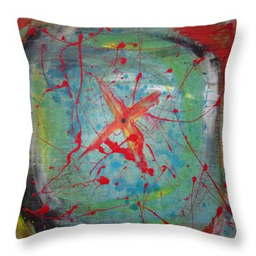 Bullseye Vision Throw Pillow
