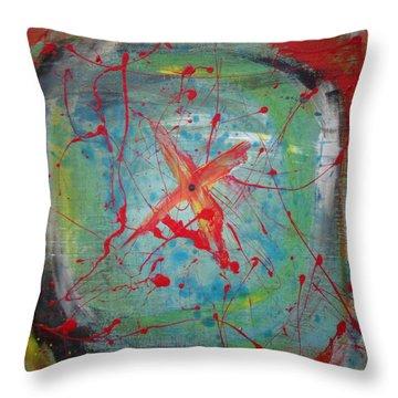 Bullseye Vision Throw Pillow