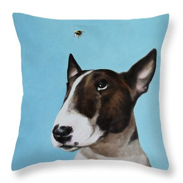 Bully And Bee Throw Pillow