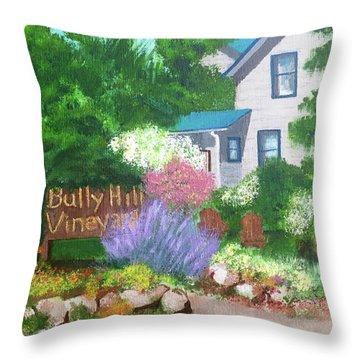 Bully Hill Vineyard Throw Pillow