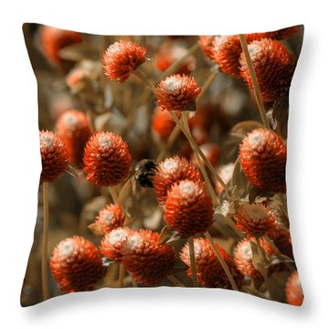 Bumble Bee Heaven Throw Pillow by Sherman Perry