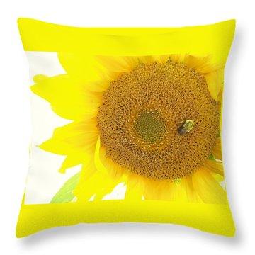 Bumble Bee Sunflower Throw Pillow