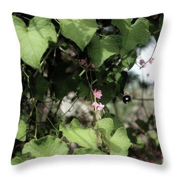 Throw Pillow featuring the photograph Bumble Bum by Megan Dirsa-DuBois