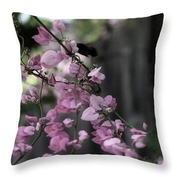 Throw Pillow featuring the photograph Bumble by Megan Dirsa-DuBois