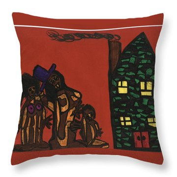 Bumpkin Dwellings Throw Pillow