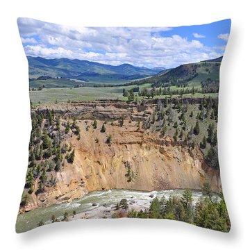 Bumpus Butte Yellowstone Throw Pillow