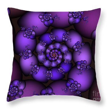 Bunch Of Grapes Throw Pillow by Jutta Maria Pusl