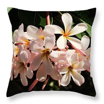 Bunch Of Plumeria Throw Pillow