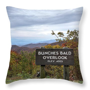 Bunches Bald Throw Pillow