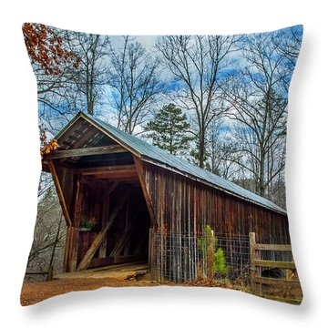Bunker Hill Cvered Bridge Throw Pillow