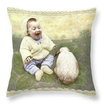 Funny Buddies Throw Pillow