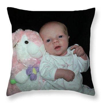 Bunny Baby Throw Pillow