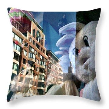 Bunny Costumes Throw Pillow