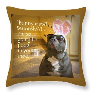 Bunny Ears? Throw Pillow