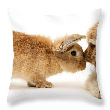 Bunny Nose Best Throw Pillow