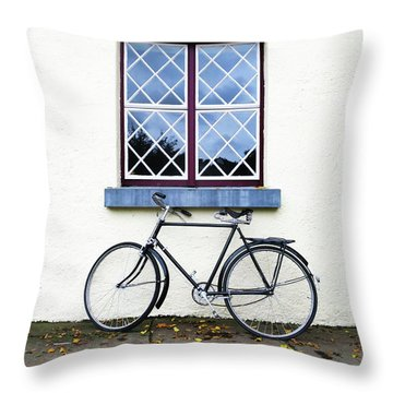 Bunratty Bike Throw Pillow