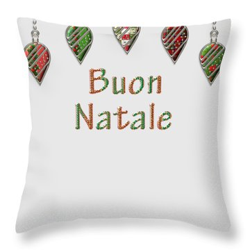 Buon Natale Italian Merry Christmas Throw Pillow