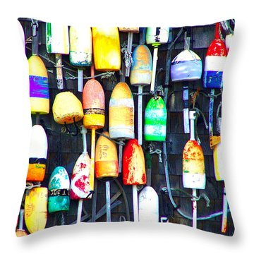 Buoy Art Throw Pillow by Bill Holkham