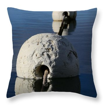Throw Pillow featuring the photograph Buoy In Detail by Stephen Mitchell