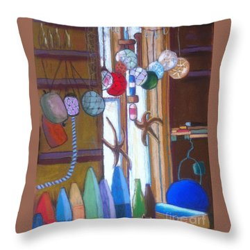 Buoys Bottles And Bobs Throw Pillow