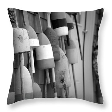 Buoys Throw Pillow by Eric Gendron