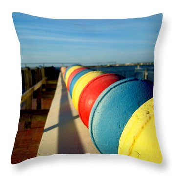 Buoys In Line Throw Pillow