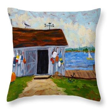 Buoys Will Be Buoys Throw Pillow by Diane Arlitt