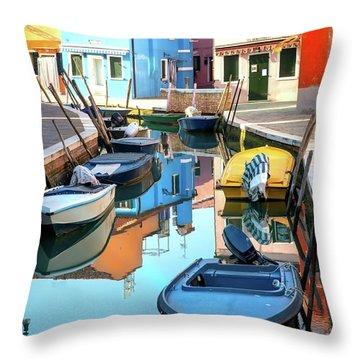 Burano II  Throw Pillow