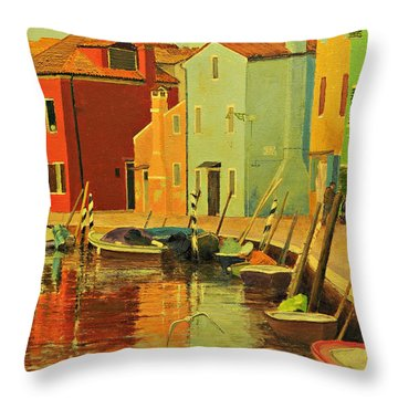 Burano, Italy - Study Throw Pillow