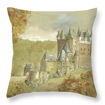 Burg Eltz Castle Throw Pillow by Juan Bosco