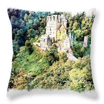 Burg Eltz - Moselle Throw Pillow