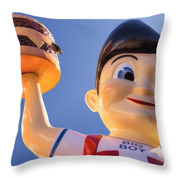 Burger Bob Throw Pillow