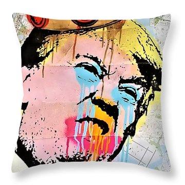 Burger King Trump Throw Pillow