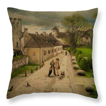 Burghausen Fortress Throw Pillow