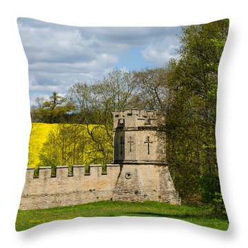 Burghley House Fortifications Throw Pillow