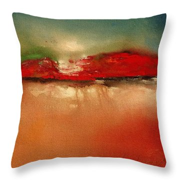 Burgundy Mountain Throw Pillow