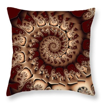 Burgundy Royale Throw Pillow by Michelle H