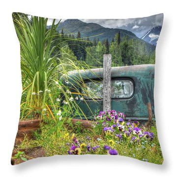 Buried In Beauty Throw Pillow