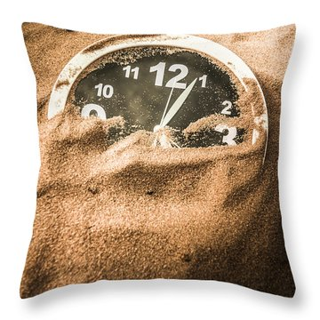 Buried In The Sands Of Time Throw Pillow
